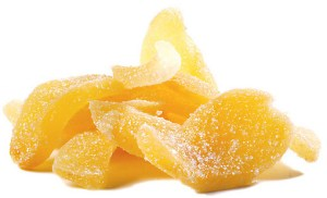 Crystallized, candied Ginger. Source: nuts.com