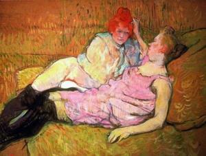 """Toulouse Lautrec, """"The Sofa,"""" via art-kingdom.com"""