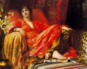 "Sir Frank Dicksee, ""Leila,"" 1892. Source: dailymotion.com"