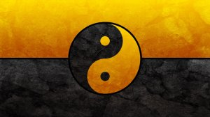 """Black and Gold Yin Yang"" by Dynamicz34 on DeviantArt.com. (Website link embedded within.)"