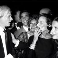 With Andy Warhold at Studio 54. Source: Vogue.it