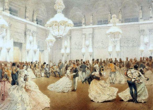 1873 may ball - Mihály Zichy. Source: en.gallerix.ru/album/Hermitage-5