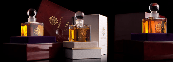 Amouage's attars. Source: amouage-collection.ru