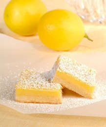 Lemon bars or lemon squares. Source: tastebook.com