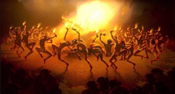 """Navajo Fire Dance"" by Leigh William Robinson, 1866 1955. Source: Pinterest & YouTube."