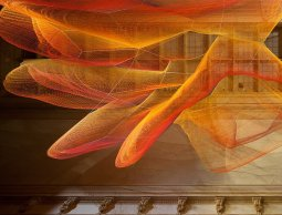 Sculpture by Janet Echelman for the Renwick Gallery, Smithsonian Museum. Photo source: smithsonianmag.com