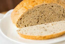 Jewish rye sourdough bread. Photo/source: The Brown Eyed Baker. (Direct link to website with a recipe for the bread is embedded within.)