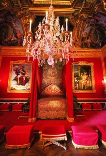 """Royal bedroom at Versailles. Photo & Source: """"Kevin and Amanda"""" travel site. (Direct website link embedded within.)"""