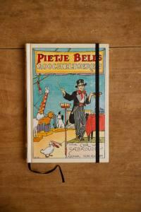 Notitieboek van het kinderboek Pietje Bells Goocheltoeren| gemaakt door Kaftwerk.com