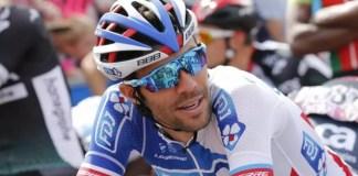 Thibaut Pinot ne disputera peut-être pas le Giro, où il se plaît tant, en 2018. «Priorité au Tour de France», a dit Marc Madiot, le manager de Groupama-FDJ. (Yuzuru Sunada/L'Equipe)