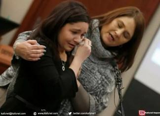 Kaylee Lorincz (g) témoigne au procès de Larry Nassar, le 24 janvier 2018 à Lansing aux Etats-Unis