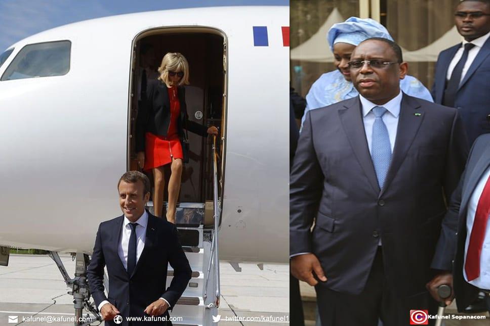 Aéroport de Dakar : Macron est arrivé