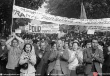 Manifestation de grévistes le 29 mai 1968 à Paris, à l'appel de la CGT