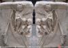 Représentation du gouvernail sur un bateau romain datant du ier siècle