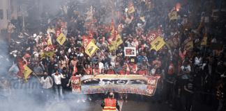 Le cortège des manifestants, jeudi 19 avril 2018 à Marseille