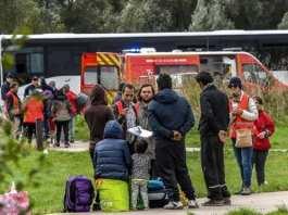 """L'évacuation visait 400 à 500 migrants, essentiellement des """"familles"""" et """"des personnes fragiles"""", a précisé la sous-préfecture de Dunkerque. @ PHILIPPE HUGUEN / AFP"""