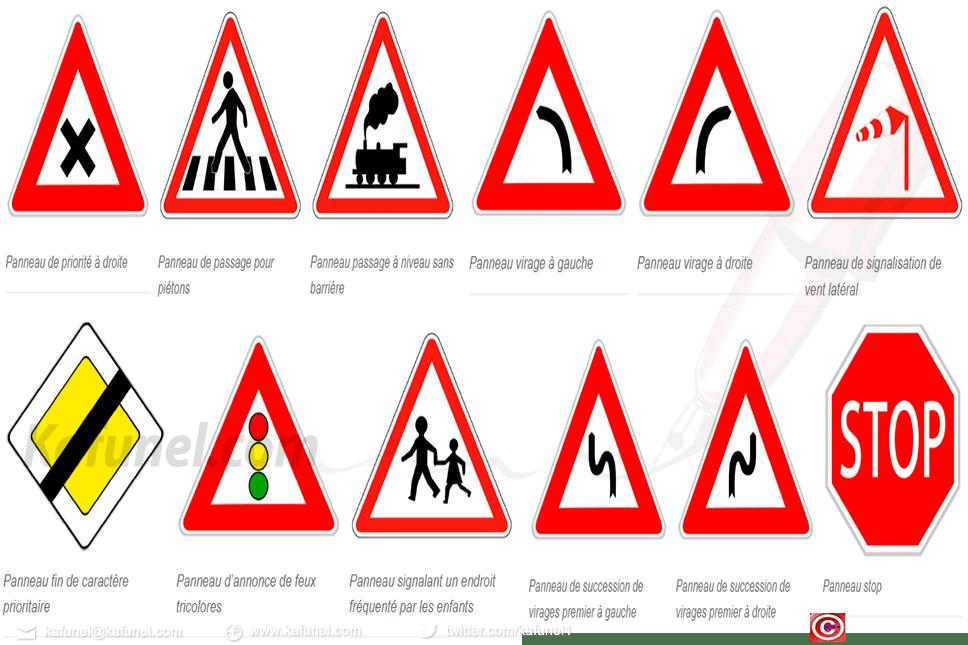 Panneaux de signalisation routière à imprimer
