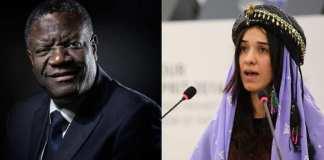 Denis Mukwege et Nadia Murad ont reçu vendredi le prix Nobel de la Paix. (Montage)@ JOEL SAGET / AFP et FREDERICK FLORIN / AFP