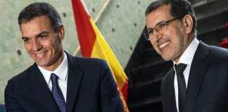 Le Premier ministre marocain Saad Eddine el-Othmani en compagnie de son homologue espagnol Pedro Sanchez à Rabat
