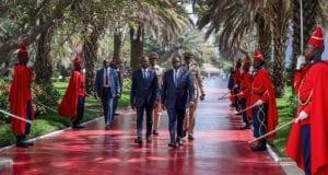 Le Premier ministre sénégalais Mahammed Dionne et le président Macky Sall qui, au lendemain de sa prestation de serment pour un deuxième mandat, a annoncé la suppression du poste de Premier ministre. Photo : Présidence sénégalaise