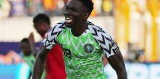 Kenneth Omeruo a inscrit le seul but du Nigeria contre la Guinée, le 26 juin 2019. Suhaib Salem/Reuters
