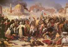 Emile Signol - Taking of Jerusalem by the Crusaders 15th July 1099 1847 - (MeisterDrucke-90823)