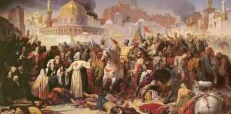 Emile Signol - Taking of Jerusalem by the Crusaders 15th July 1099 1847 - (MeisterDrucke-90823)