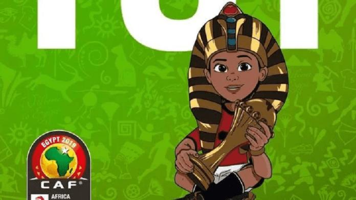La mascotte est aux couleurs de la sélection égyptienne