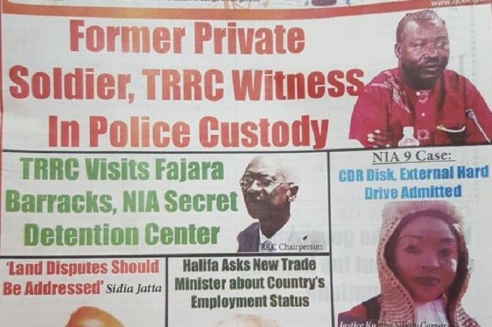 Les manchettes, comme celles-ci dans le journal Foroyaaa, sont dominées par les audiences du TRRC depuis des mois.