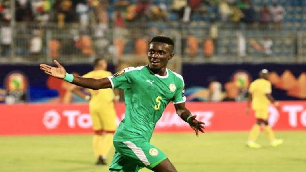 Idrissa Gueye célèbre son but salvateur face au Bénin.