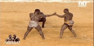 Le film du KO du Combat Royal Eumeu Sene VS Modou LO