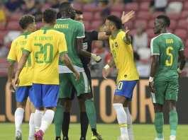 Le Brésil accroché par le Sénégal pour la centième de Neymar - © ROSLAN RAHMAN - AFP