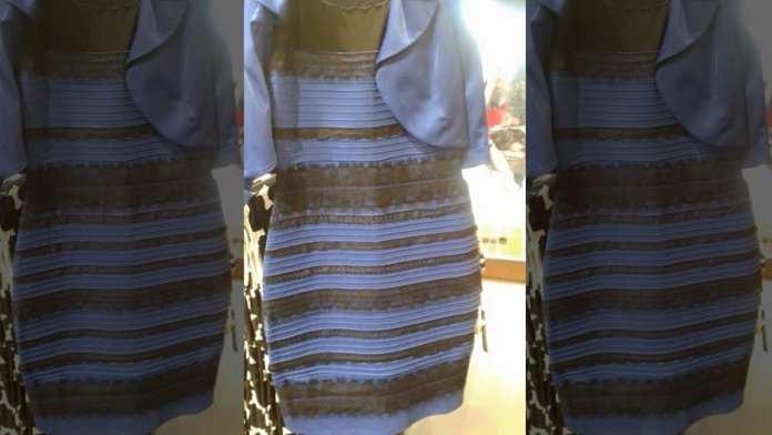 De quelle couleur voyez-vous cette robe blanche ou bleue