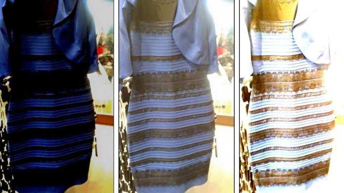 De quelle couleur voyez-vous cette robe - blanche ou bleue