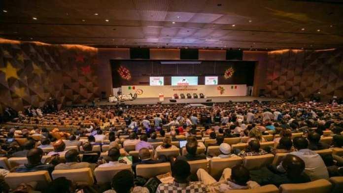 La salle plénière au Centre international de Conférence Abdou Diouf où s'est déroulé le Forum de Dakar 2018. © Forum international de Dakar