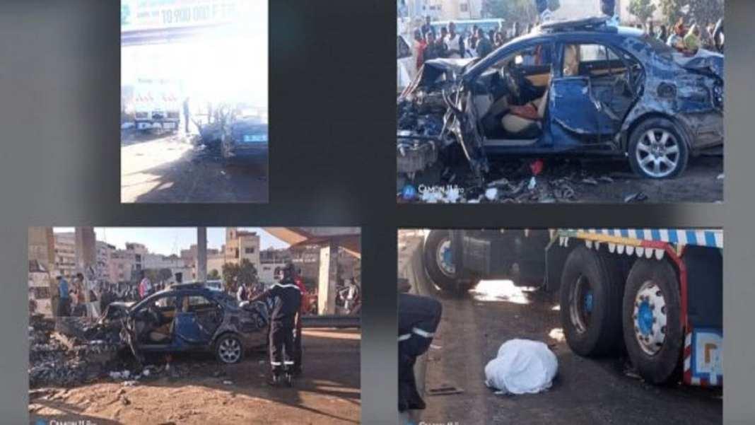 [Photos-Audio] Accident à hauteur du Stade LSS Une course-poursuite entre deux camions fait 3 morts et 7 blessés graves