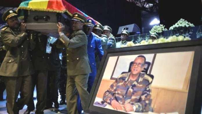 Seare Mekonnen , chef de l'armée éthiopienne, 64 ou 65 ans