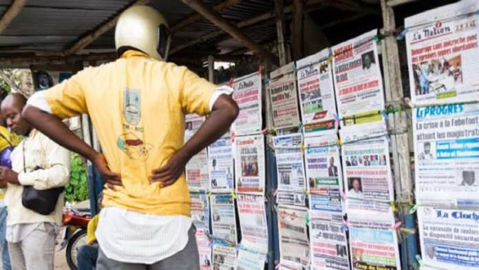 Ignace Sossou, un journaliste béninois travaillant pour le média Bénin Web TV