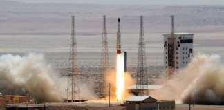 Une photo du lancement du satellite Simorgh le 27 juillet 2017 à Semnan (à l'est de Téhéran) fournie par le ministère iranien de la Défense (image d'archive) afp.com/HO