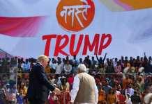 Le Premier ministre indien, Narendra Modi a sorti le grand pour accueillir le président américain, Donald Trump. MANDEL NGAN / AFP