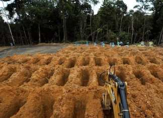 Scènes de film d'horreur d'épidémie Covid-19 à Manaus au Brésil