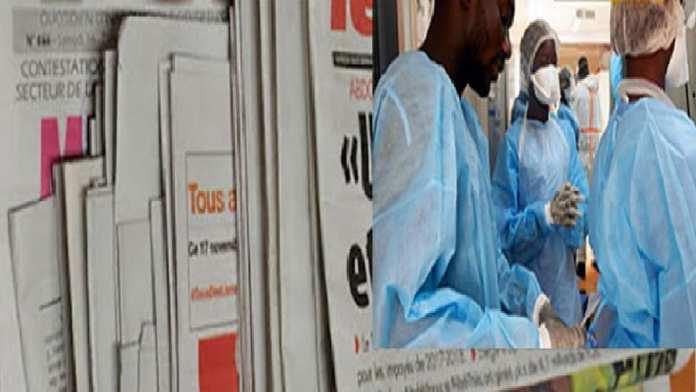 Revue de presse du 14 mai 2020 Le personnel soignant infecté à la Une