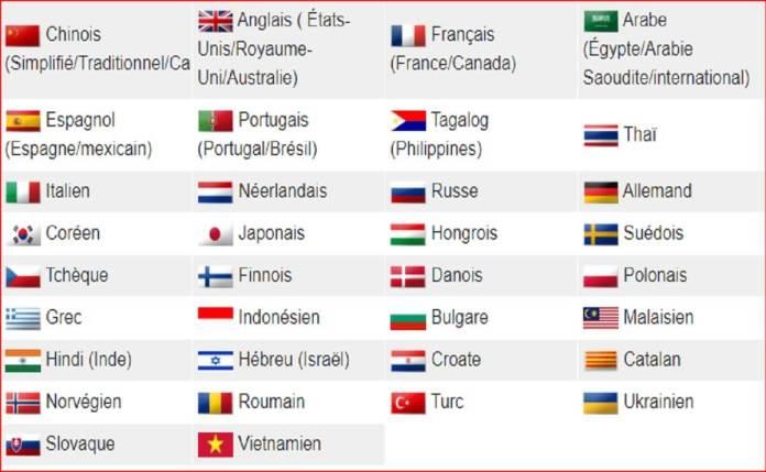 Plus de 40 langues prises en charge-Capture (1)