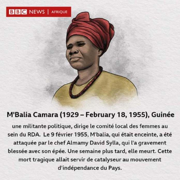 M'Balia Camara, militante de l'indépendance de Guinée.