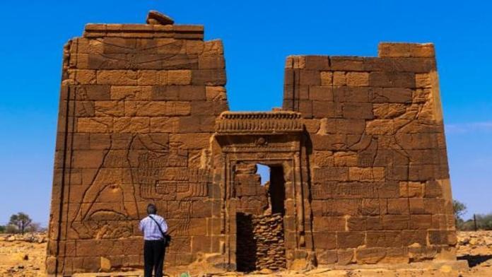 Temple du lion d'Apdemak Nubie (site de Méroé au Soudan) . Le 29 décembre 2018.