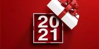 Bonne année 2021 Images de cartes de voeux de nouvel an simples et douces pour vos proches et chers-Capture