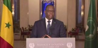 Discours du Président Macky SALL du 31 décembre 2020