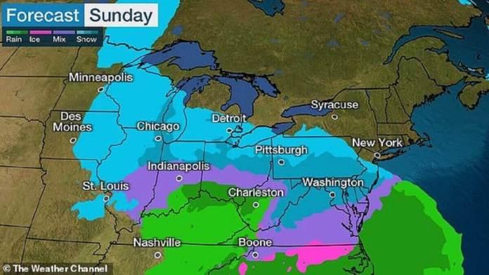Jusqu'à 12 pouces de neige devraient tomber sur les villes du Midwest, y compris Chicago d'ici lundi