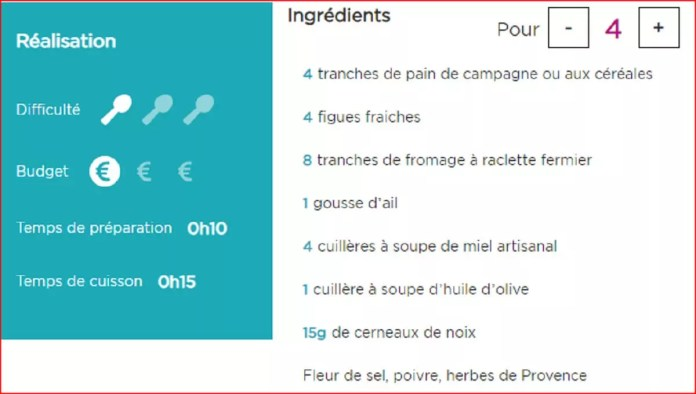 Recettes Tartines de figues rôties au miel et raclette 3