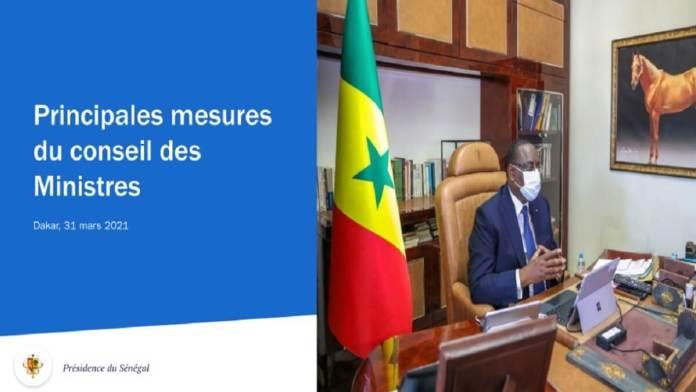 Retrouvez les principales mesures du Conseil des ministres de ce mercredi 31 mars 2021